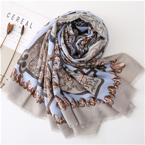 Wholesale carriage chain printing cotton scarf