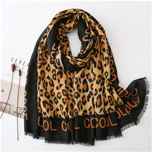 Leopard print cotton warm cheap scarf