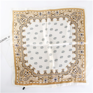 Wholesale cashew printed silk square scarf