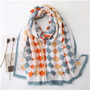 Color printing cotton cheap scarf