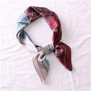 Chinese cheap cashew pattern silk square scarf