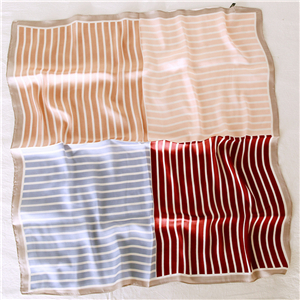 China wholesale striped silk square scarf