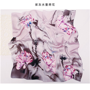 China Yiwu cheap printed silk square scarf