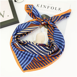 China wholesale geometric vintage silk square scarf