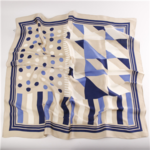 China cheap printed silk square scarf