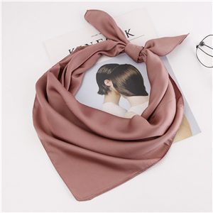 China wholesale solid color silk square scarf