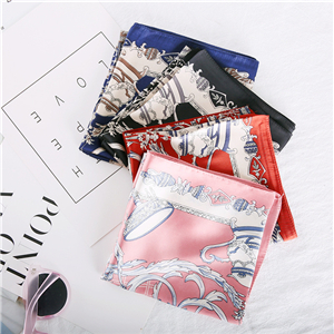 Wholesale printed silk square scarf