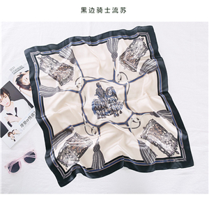 China wholesale printed silk square scarf