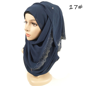 Wholesale hollow rhinestone chiffon muslim scarf