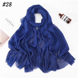 Wholesale monochrome cotton rhinestone scarf