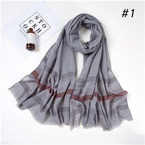 Wholesale monochrome striped thermal scarf