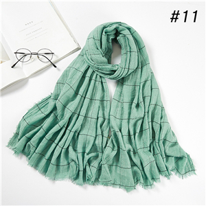 Wholesale plaid cashmere warm scarf