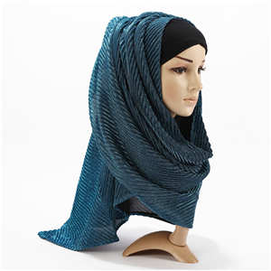 Wholesale bright silk cotton muslim scarf