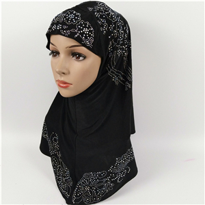 Wholesale cotton rhinestone muslim scarf