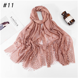 Wholesale lace cotton muslim decorative scarf
