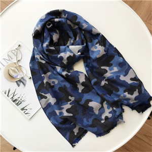 Camouflage geometric cashmere cheap scarf