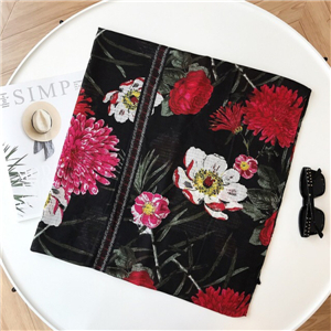 Wholesale flower print cashmere scarf