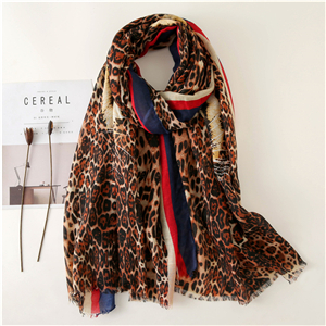 Wholesale printed tiger head leopard cotton scarf