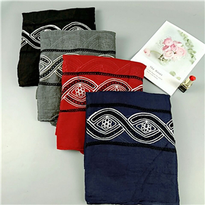 Wholesale embroidered cotton Muslim scarf