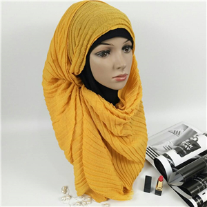 Four sided hairs fold muslim scarf cheap from China