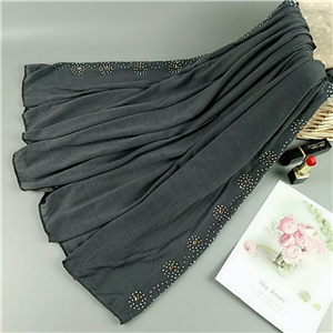 China wholesale hot drilling cotton Muslim scarf