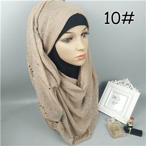 China wholesale hairy hot drilling Muslim scarf