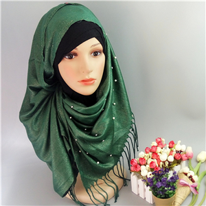 Wholesale pearl cotton muslim scarf