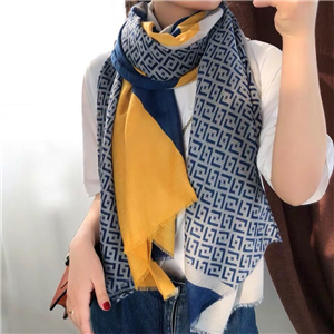 Wholesale printed stitching tassel cotton scarf