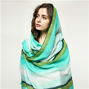 Wholesale color grid printed cotton decorative scarf