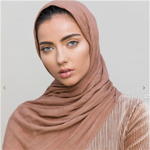 Wholesale solid color pleated muslim scarf