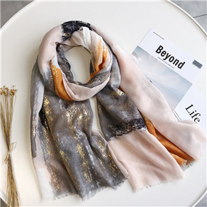 Hot silver square color cotton cheap scarf