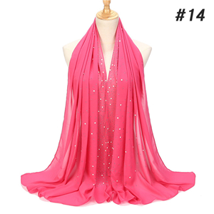 China wholesale hot drilling chiffon muslim scarf