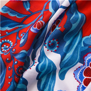 Color floral pattern fringed sunscreen cheap scarf