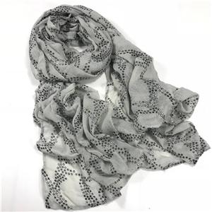 498a24642 ... Wholesale hot diamond pentagram chain pattern cotton sunscreen scarf