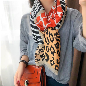 Zebra four grid stitching animal print pattern warm cheap scarf