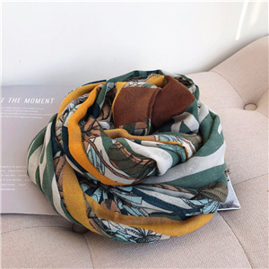 Wholesale flower print sunscreen cheap scarf