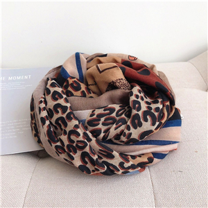 Wholesale animal leopard print sunscreen cheap scarf