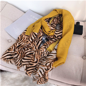 Wholesale tiger pattern cotton scarf