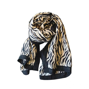 Wholesale zebra stripe printed cotton scarf