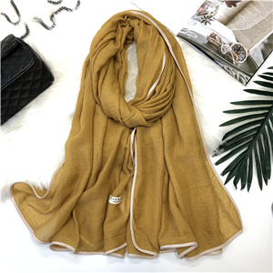 Wholesale solid color cotton warm scarf
