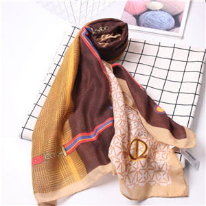 Chain pattern cotton decoration cheap scarf