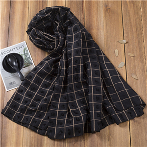 Plaid ball cotton warm cheap scarf