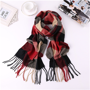 Wholesale cashmere plaid warm scarf