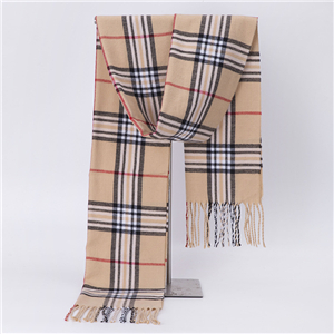 Plaid tassel cashmere decorative cheap scarf
