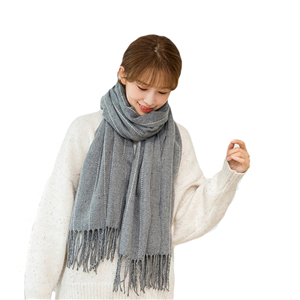 Wholesale vertical bar plaid cotton scarf