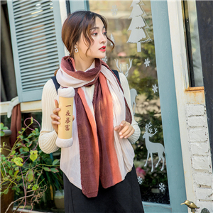 China wholesale crumpled gradient cotton scarf