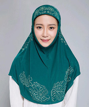 Muslim hot drill head scarf