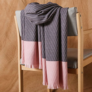 Cashmere jacquard striped scarf wholesale