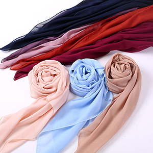 Monochrome cotton linen ladies square scarf wholesale