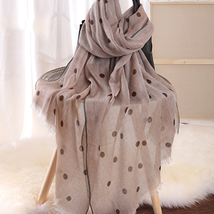 Winter warm shawl retro polka dot 100% cashmere wholesale
